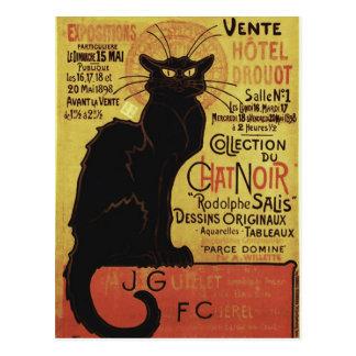 Chat Noir, Vente Hôtel Drouot Steinlen Fine Art Postcard