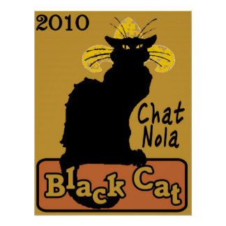 Chat Nola, Black Cat, 2010 Poster