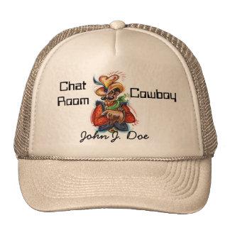 """Chat Room Cowboy"" (c) EZ & Fun Personalized Hat"