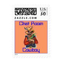"""Chat Room Cowboy"" (c) OriginalConceptDesign Stamp"