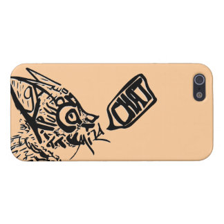 """""""Chat"""" Word-Art Cat Case For iPhone SE/5/5s"""