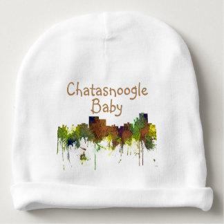 Chatanooga Tennessee Skyline Safari Buff Baby Beanie