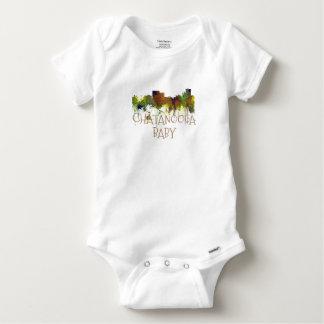 Chatanooga Tennessee Skyline Safari Buff Baby Onesie