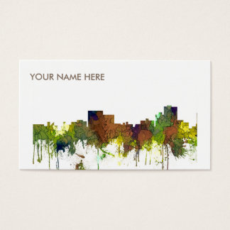 Chatanooga Tennessee Skyline Safari Buff Business Card