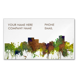 Chatanooga Tennessee Skyline Safari Buff Magnetic Business Card