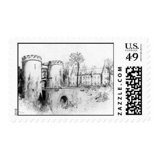 Chateau a Liège 1847 Postage
