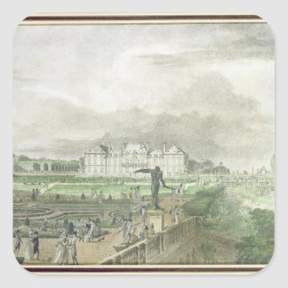 Chateau and Garden of Sceaux Square Stickers