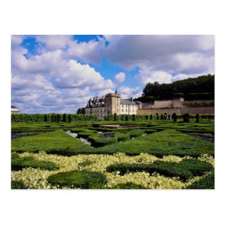 chateau blanco de Villandry, región del Loira, Tarjeta Postal