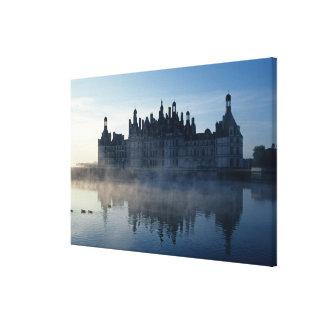 Chateau Chambord at dawn, Loir-et-Cher, Loire Canvas Print