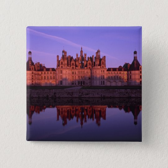 Chateau Chambord at sunset, Loire Valley, France Button
