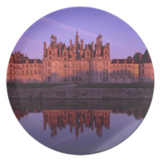 Chateau Chambord at sunset, Loire Valley, France Dinner Plate