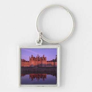 Chateau Chambord at sunset, Loire Valley, France Silver-Colored Square Keychain