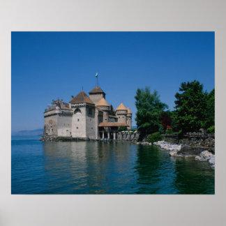 Chateau Chillon, Lake Geneva, Vaud Canton, Poster