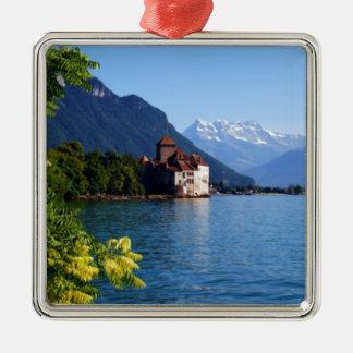 Chateau Chinon, beside Lake Geneva Metal Ornament