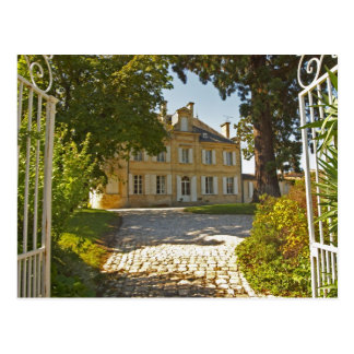 Chateau Cos Labory in Saint St Estephe, wrought Postcard