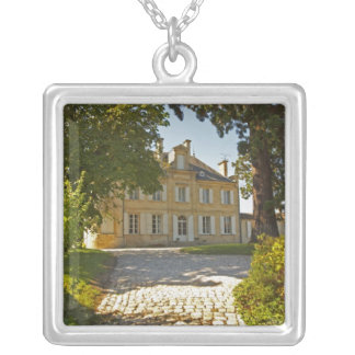 Chateau Cos Labory in Saint St Estephe, wrought Square Pendant Necklace