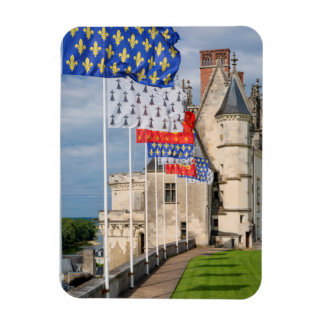 Chateau d'Amboise and flag, France Magnet