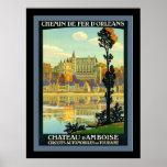 Chateau d'Amboise ~ Vintage Travel Poster