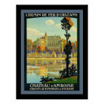 Chateau d'Amboise ~ Vintage Travel Posters