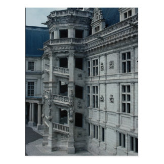Chateau de Blois ala de Francisco I detalle el Postales