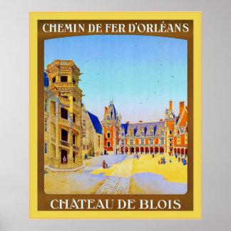 Château de Blois ~ Vintage French Travel Poster