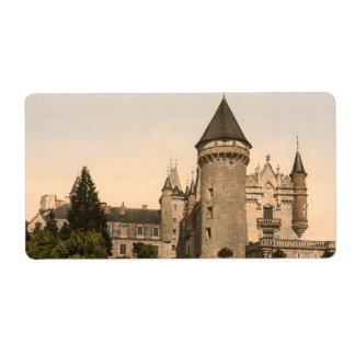 Chateau de Busset, near Vichy, France Personalized Shipping Label