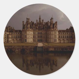 Château de Chambord (Chambord Castle) Classic Round Sticker