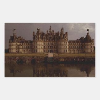 Château de Chambord (Chambord Castle) Rectangular Sticker