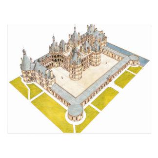 Chateau de Chambord Chambord Loir-et-Cher Postcard