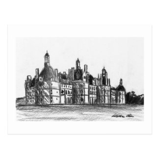 Chateau de Chambord Postcard