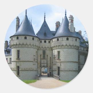 Château de Chaumont sur Loire Classic Round Sticker