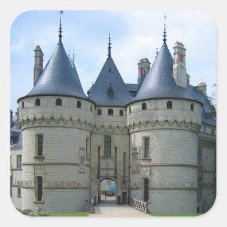Château de Chaumont sur Loire Square Sticker