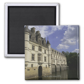 Chateau de Chenonceau in France 2 Inch Square Magnet