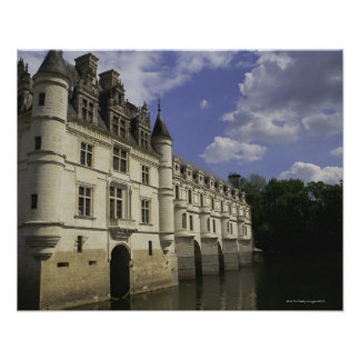 Chateau de Chenonceau in France Poster