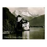 Chateau de Chillon Switzerland Vintage Postcard