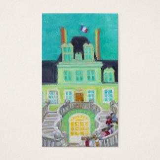 Chateau de Fontainebleau Fantasy business card