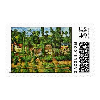 Château De Médan By Paul Cézanne (Best Quality) Postage Stamp