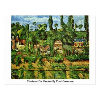 Chateau De Medan By Paul Cezanne Postcard