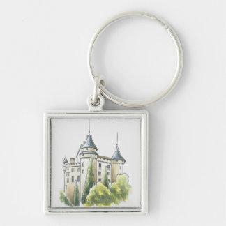 Chateau de Mercues, France Key Chain