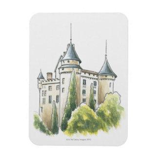 Chateau de Mercues, France Magnet