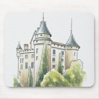 Chateau de Mercues, France Mouse Pad