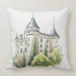 Chateau de Mercues, France Pillow