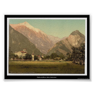 Chateau de Werra, Valais, Switzerland Poster