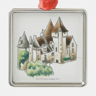 Chateau des Milandes, France Metal Ornament