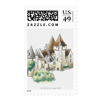 Chateau des Milandes, France Stamps
