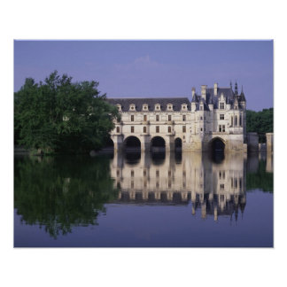 Chateau du Chenonceau el valle del Loira Poster