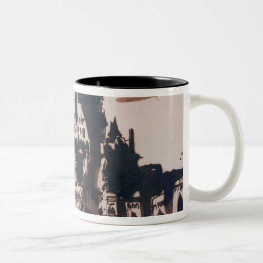 Chateau fortified by two Bridges Two-Tone Coffee Mug