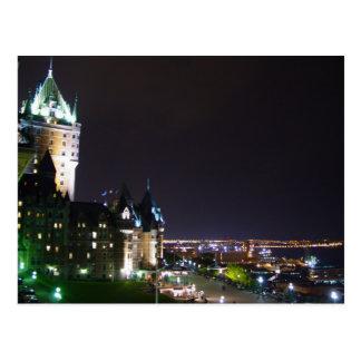 Chateau Frontenac Castle Boardwalk Quebec Postcard