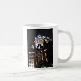 Chateau Frontenac Castle Lit Up At Night Mug