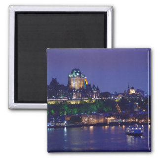 Chateau Frontenac Castle Night Quebec City Magnet